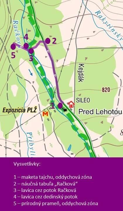 mapa nácneho chodnika v rackovej doline