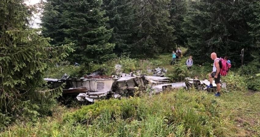 SNP výstup na Slemä k troskám lietadla