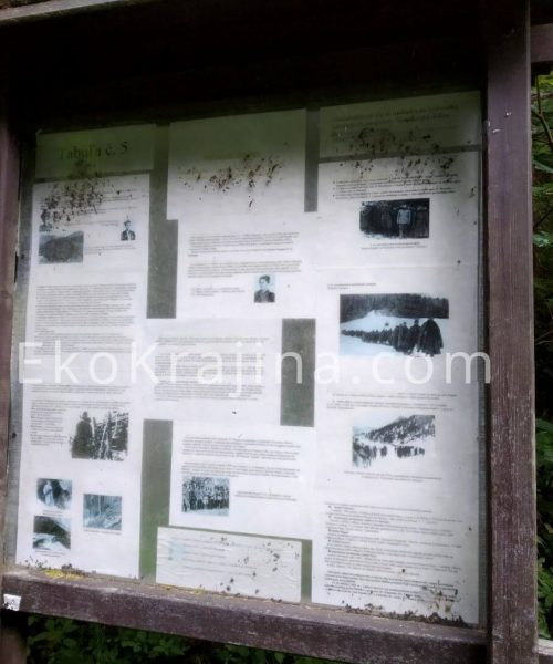 náučná tabuľa č. 5 SNP Brtkovičná dolina